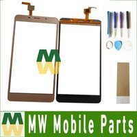 Wholesale M8 Pro - High Quality1PC  Lot For Leagoo M8 Pro Black Gold Color Touch Screen Digitizer Replacement Part With tools+Tape