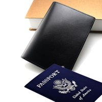 Wholesale leather travel passport bag resale online - Men s luxury passport the new MB wallets cenuine leather travel purse MT wallet bag passport ID card cover case card holder