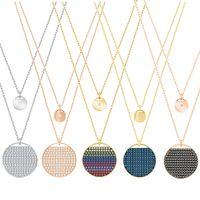 Wholesale swarovski jewelry rose gold - CHAMS Swarovski 2018 new necklace rainbow multicolor plating pendant original rose gold jewelry factory direct
