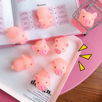 Wholesale pig decor - Pink Pig Soft Animal Squishy Healing Squeeze Toy Mochi Stress Reliever Decor Decompression Toys Kids Gift