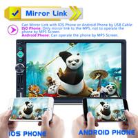 telefone da língua chinesa venda por atacado-7 Polegada 2 DIN Bluetooth Auto Multimídia Estéreo Do Carro DVD MP5 Player AM / FM / RDS Suporte de Rádio Espelho Link Retrovisor Cam CMO_22S