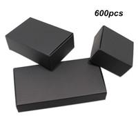 упаковочные коробки для мыла ручной работы оптовых-Разнообразие размеров черный ремесло бумаги свадьба подарочная упаковка коробка для ювелирных изделий жемчуг крафт-бумага ручной работы мыло пакет коробка для печенья