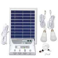 Wholesale solar panel cells for sale - Solar Panel Lighting Kit Solar Home DC System Kit USB Solar Charger with LED Light Bulbs Emergency Light USB Port with Cell Phone Chargers