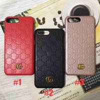 Wholesale screen printed bags online - luxury brand printed leather texture phone case for iphone X plus plus TPU silicone shatter resistant back cover for iphone S plus