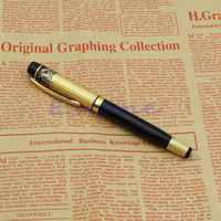 caneta nova do herói venda por atacado-HERO 901 Medium Nib Fountain Pen luxo preto ouro inoxidável novo