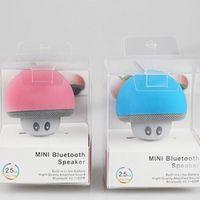 Wholesale mini mushroom bluetooth speaker - Lovely Mushroom Bluetooth Speaker Car Speakers with Sucker Mini Portable Wireless Handsfree Subwoofer