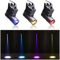 led mini sahne lekeleri toptan satış-Mini 10W RGBW 4in1 Led Pinspot Spot Disco Nokta DMX LED Yağmur Sahne Işık DJ Sahne Parti göster Işık