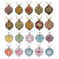 Wholesale can pendants for sale - Group buy Perfume Essential Oil Necklace Spongy Aromatherapy Can Open Hollow Out Locket Pendant Alloy Charm No Chain Eco Friendly ld jj