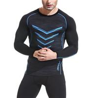 camisa de musculação venda por atacado-Correndo T-Shirts para Homens Apertados Camisas Esportivas Ginásio de Fitness Workout Musculação Esporte Jersey Meias De Compressão Sportwear Camisa