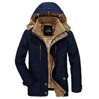 Wholesale Windbreaker Button Down - Military Windbreaker Warm Jackets Mens Winter Thick Outwear Casual Down Coats Parka Jaqueta Masculino Militar Jacket