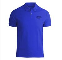 yabancı polo gömlekleri toptan satış-Dış ticaret marka erkek eşleştirme renk eşleştirme polo gömlek yaka T-shirt kısa kollu aston Martin sıcak tarzı 83