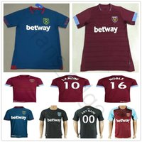 Wholesale west home - 2018 2019 West Ham United Football Jersey Arnautovic Lanzini Snodgrass Noble Carroll Chicharito Ayew Home Away Custom 18 19 Soccer Shirt
