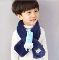 Wholesale Super Thick Girls - Super - character cartoon party bear children's scarf Kids boy girl and thick autumn and winter warm neck sleeve.