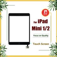 ipad mini sayısallaştırıcı toptan satış-IPad mini 1 mini 2 Için yedek Dokunmatik Ekran Dokunmatik Digitizer Ekranlar IC Ev Düğme Flex Kablo ipad mini1 mini2 için Komple Meclisi