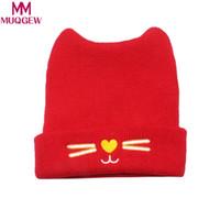 beanie baby fashion boy оптовых-MUQGEW Fashion Warm Baby Hats Cute Cat Ear Newborn Knitted Hat Beanie Caps Autumn Winter Infant Kids Boys Girls Cartoon Caps