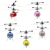 Wholesale black mini helicopter resale online - Originality Induction Vehicle Infrared Senso Flying Suspension Remote Control Helicopter Children Mini Aircraft Flashing Light Toys xc W