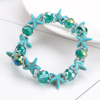 Wholesale colorful star charm for sale - Group buy Charm Bracelet Vintage Jewelry Agate Turquoises Crystal beads Colorful Asian Styple Diamond Star Heart Cross Bracelets for Women