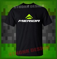 tops de merida al por mayor-Nuevos hombres Tops de verano Casuals Camisas Merida Biking Team Camiseta Top Tees Custom Any Logo Size