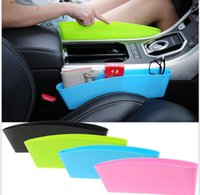 Wholesale pocket key holder case - Auto Car Seat Console Organizer Side Gap Filler Pocket Organizer Storage Box Bins Bag Pocket Holder Console Slit Case for Phone Key KKA4286