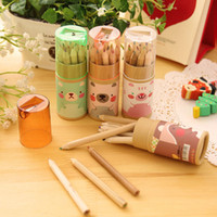 Wholesale 12pcs set Coloring Pencils Stationery for School Supplies Artist Painting Drawing Pen Children Kids Christmas Gift