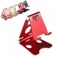Wholesale metal folding brackets for sale – best Universal Aluminum Metal Cell Phone holder pad Tablets PC Desk Stand Folding Holder Bracket For iphone xs MAX xR ipad2 mini