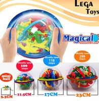 Wholesale intellect toys online - 3D Puzzle Magic Maze Ball level perplexus magical intellect Marble Puzzle Game IQ Balance Educational toys for Kids