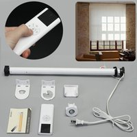 Wholesale roller shades windows - JX-LCLYL AC 100-240V Electric Electric Roller Shade Motor Tubular Remote Control