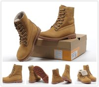 Wholesale real roll - With High Quality womens Timber roll top boots real fur wool wheat shoes for hiking work boots Luxury timber Brand Big Tree Log