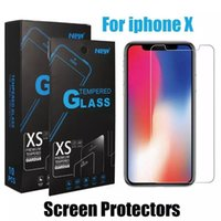 Wholesale high glossy paper - For iPhone X 8 Tempered Glass Anti-Scratch Screen Protector For iPhone SE2 7P 0.26mm Screen Protector High Definition 2.5D 9H Paper Package