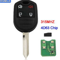 ford edge al por mayor-Nuevo reemplazo Keyless Complete Remote Key 4 botones Smart Full Car Key Fob para Ford Mustang Exploror Edge 315MHZ con 4D63 Chip