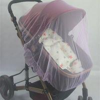 cobertura de rede bebê venda por atacado-Enlarge Baby Carriage Mosquito Net Cobertura Completa De Malha De Cromo Buggy Capa Stroller Camas Redes de Alta Qualidade 2 8jm Ww
