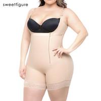 plus größe unterwäsche bodysuit großhandel-Plus Size Frauen Hot Body Shaper Abnehmen Unterwäsche Gürtel Bodysuit Taille Shaper Reductoras Shapewear für Frauen Control Pants