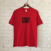 Wholesale Staff Animal - 2018 Best Quality Justin Bieber Purpose Tour Staff Collection Women Men T shirts tees Hiphop Streetwear Men Cotton T shirt