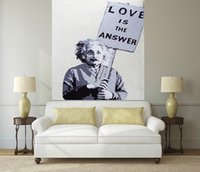 Wholesale urban art paintings for sale - Group buy High Quality Handpainted MODERN URBAN STREET ART Oil painting Einstein Albert On canvas Home Decor Multi sizes Frame Options p230