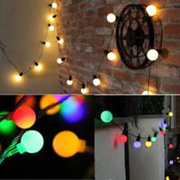 ingrosso ornamento appesa stringa-3m 10 Led String Lights Albero di Natale Hanging Ornament Couryard Decorazione Compleanno di nozze Xmas Patio esterno Gardland Decor