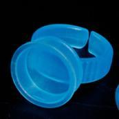 tek kullanımlık plastik bardaklık tutucuları toptan satış-100 adet / grup Bule renk tek kullanımlık plastice Dövme Mürekkep Yüzük Fincan Kalıcı Makyaj Halka pmu Dövme Pigmentler Tutucu Yüzükler Kupası ile ücretsiz kargo