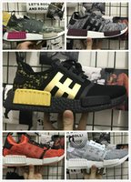 Wholesale Japanese Laced Shoes - 05New arrival NMD Runner R1 boost Japanese Triple black Triple white Man Running Shoes ultra boost Men Women Sport Sneakers NMD_R1 Primeknit