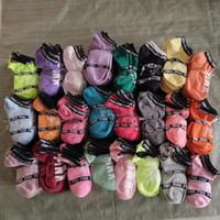 Wholesale Fishing Tables - Love Pink Ankle Socks Multi 20 Colors Sports Short Sock Girls Women Cotton Sports Socks Pink Skateboard Sneaker Stockings 500 Pairs