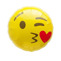 ingrosso palloni di lattice giallo-Festival Decoration Balloon Expression Toys Compleanno Disposizione Decorazione Forniture Personificazione Faccia rotonda Latex Giallo Air Ball