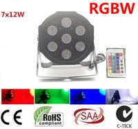 Wholesale event flats for sale - Group buy 6pcs Wireless remote control X12W IN1 RGBW MINI LED Flat Par Wash Light For Event Disco Party