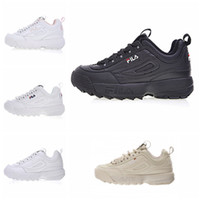 Wholesale red files - New Arrival white black grey yellow II 2 FILA Women men FILE special section sports sneaker running shoes increased shoes 36-44