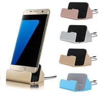 android-handy-ladestation großhandel-Universal Micro USB Ladestation Stand Station Desktop Sync Dock Ladegerät für Samsung HTC LG Android Smartphone