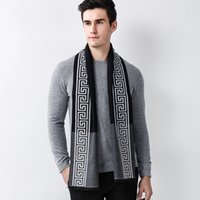 Wholesale male cashmere scarf - 2017 Classic Men Scarf Brand Winter Male Scarves Wool Warm Shawl Cashmere Long Designer Business Man Wrap