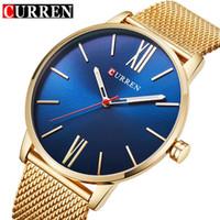 3d13d85e103 2018 Top Brand CURREN Men Simple Quartz Watches Mens Fashion Stainless  Steel Waterproof Watch Man Analog Clock Relogio Masculino
