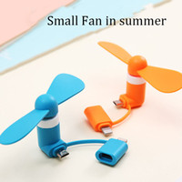 Wholesale fans c resale online - Summer Cool Micro USB Fan Mobile Phone USB Gadget Fan Tester Cell phone For type c i5 Samsung s7 edge s8 plus STY080