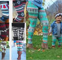 ingrosso i capretti progettano calzamaglia-Girls Mom Legging Stampa 3D Collant aderenti Pantaloni Pantaloni Natale Halloween Fiocco di neve Stampa floreale per bambini Leggings stretti 29 design