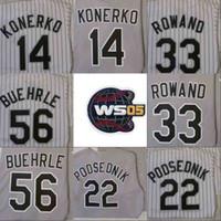 Wholesale chris paul jersey for sale - Group buy 2005 WS Champions Baseball Jersey Chicago AJ PIERZYNSKI PAUL KONERKO SCOTT PODSEDNIK JOE CREDE FRANK THOMAS CHRIS SALE MARK BUEHRLE Jerseys