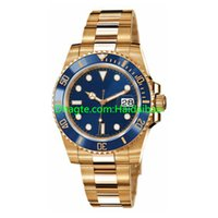 Wholesale watch chest - Luxury Perpetual Stainless Steel WATCH Fashion Watch Yellow Gold Blue Dial Ceramic 116618LB Automatic WATCH CHEST 40mm Wristwatch