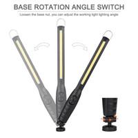 açık asılı kamp ışıkları toptan satış-USB Nightlight Şarj El Feneri Muayene Asılı Torch Fener Dahili 3000 mah Pil Kamp Açık COB Çalışma Muayene Işığı