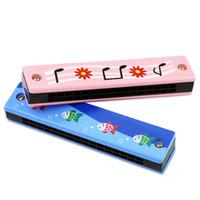 harmonica enfants achat en gros de-Drôle En Bois Harmonica Creative Enfants Instrument De Musique Props Éducatifs Enfant Attrayant Toy Band Kit Jouets Pour Cadeau D'anniversaire 3 56hh Z